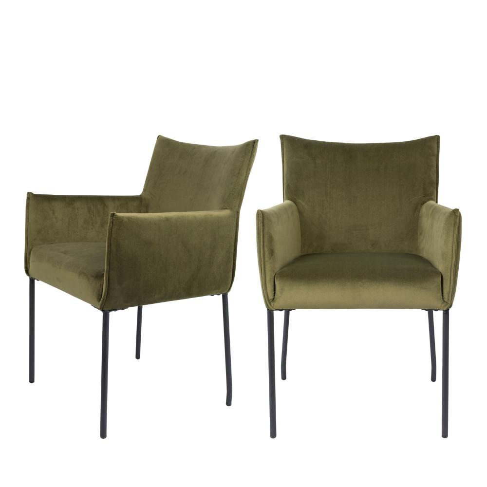 Dion - 7 fauteuils de table en velours