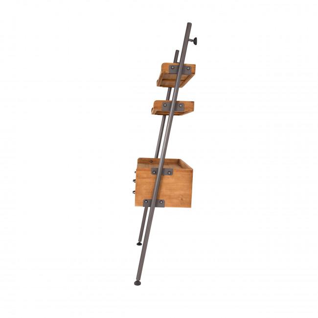 Rook - Étagère en métal et bois