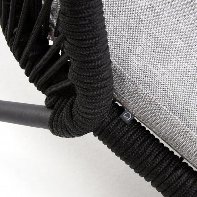 Villada - chaise longue en métal et en corde