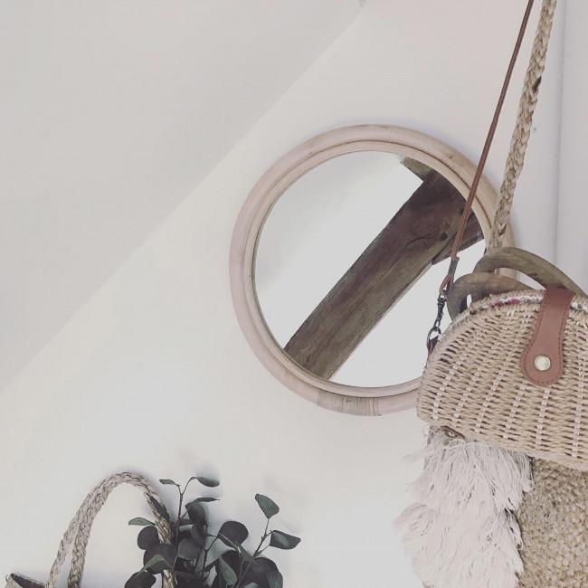 Miroir en rotin ø47 cm Sam