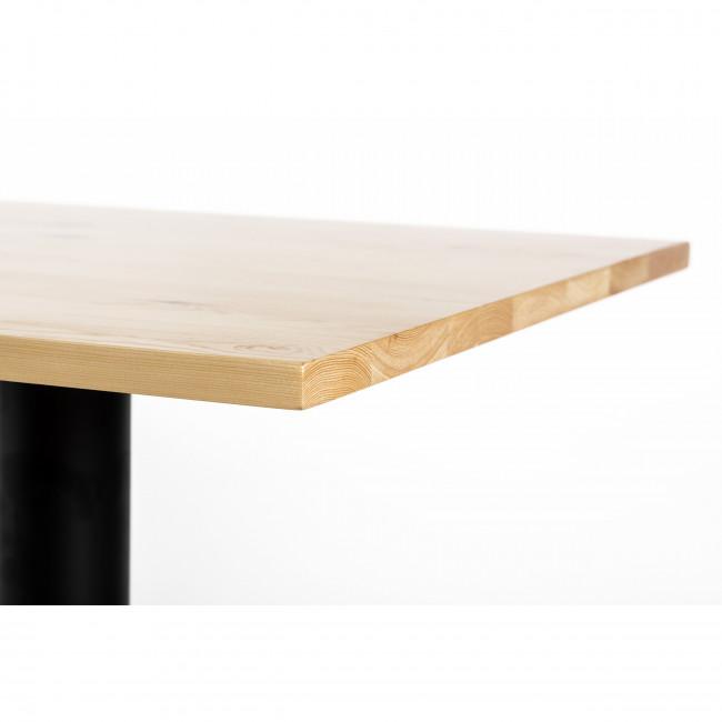 Bonnefond - Table de bistrot carrée 60x60 métal et bois