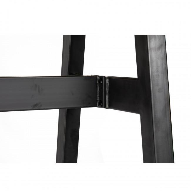 Revel - Table de bar industrielle métal et bois