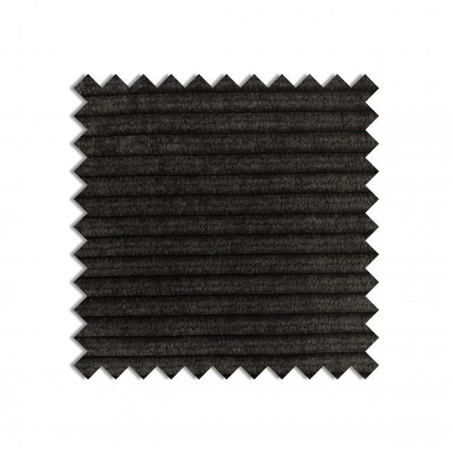 DARK GREY - Echantillon gratuit tissu côtelé gris foncé