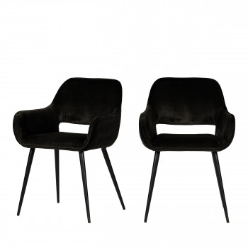 JELLE - 2 fauteuils de table design