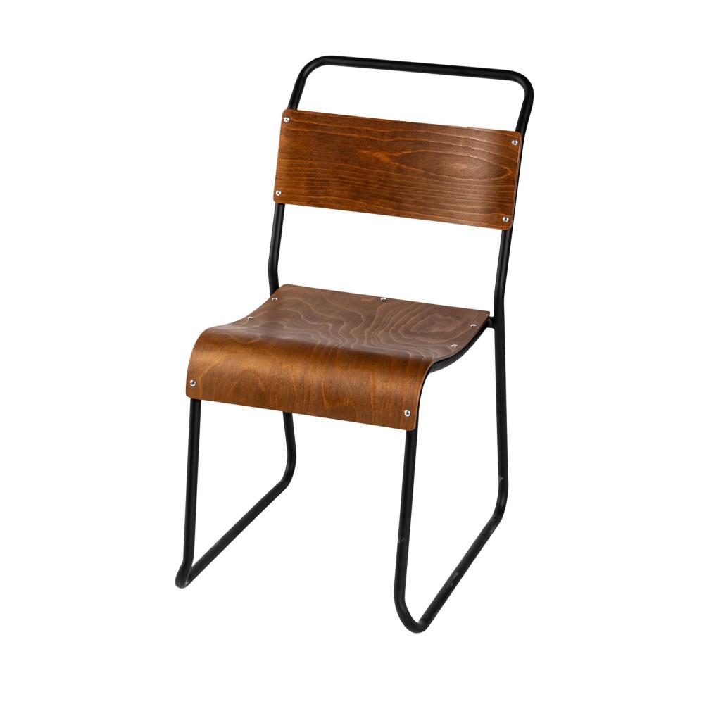 Chaise Bois Et Metal Industriel 2 chaises industrielles métal et bois drawer - biras