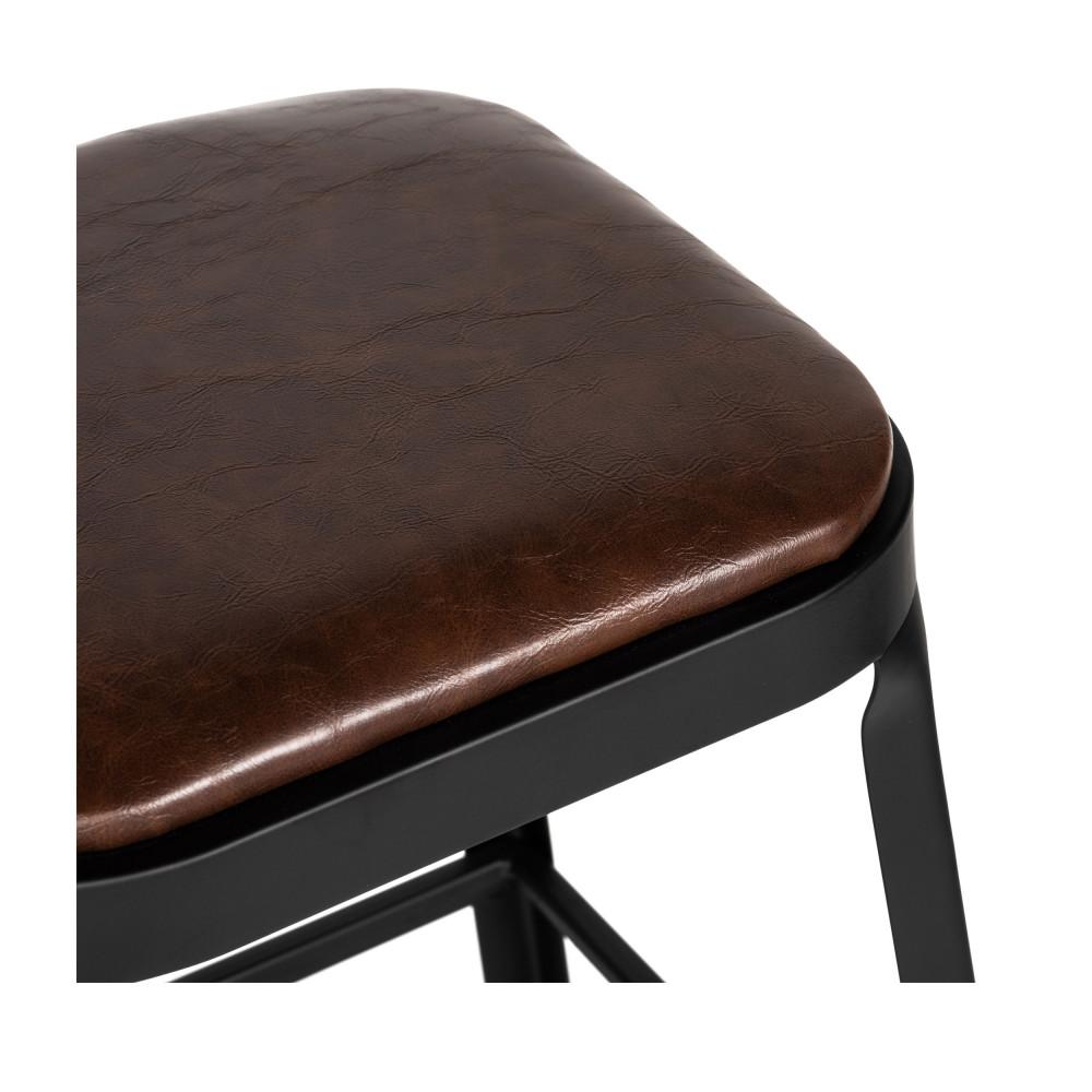 2 Chaises De Bar Metal Et Similicuir 63cm Drawer Chilly Drawer