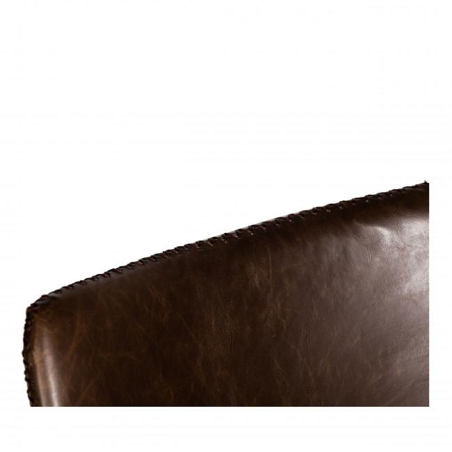 Amirat - 2 chaises métal et similicuir