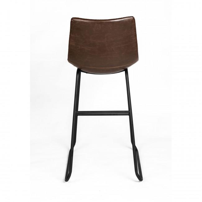 Amirat - 2 chaises de bar métal et similicuir 77cm