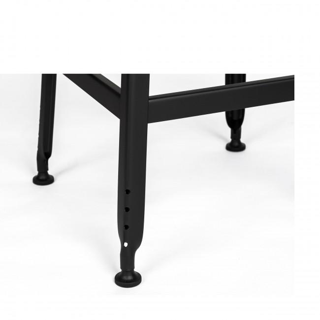 Chilly - 2 tabourets de bar métal et similicuir 63cm
