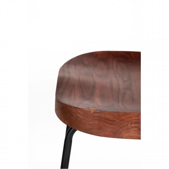 Sabran - 2 tabourets de bar bois massif et métal 74cm