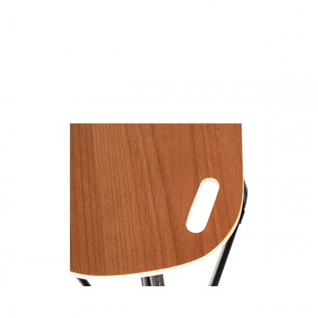 Lukke - Tabouret pliant bois et métal