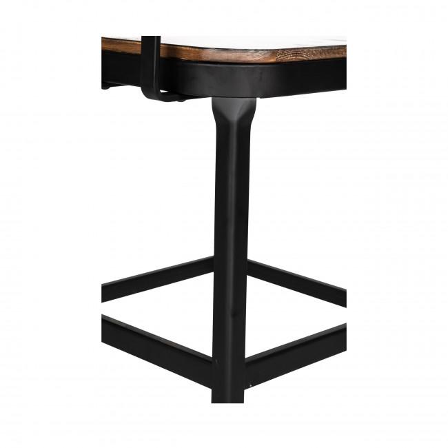Chilly - 2 chaises de bar métal et bois 63cm