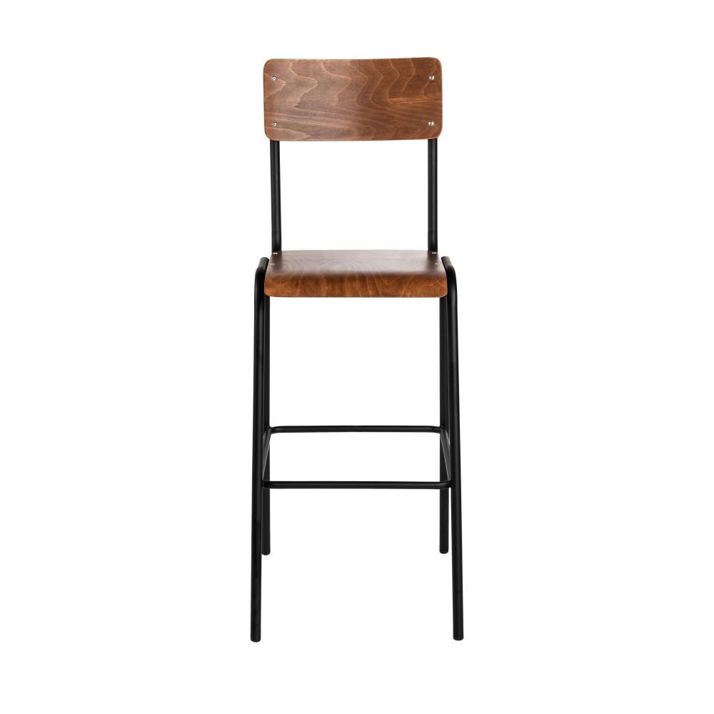 Style De Chaises Anciennes 2 chaises de bar métal et bois 67cm drawer - arlet