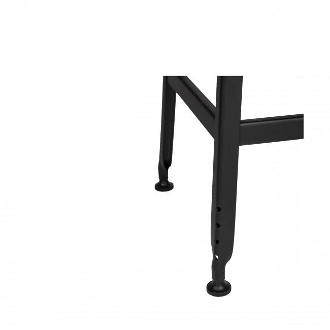 Chilly - 2 tabourets de bar métal et bois 63cm