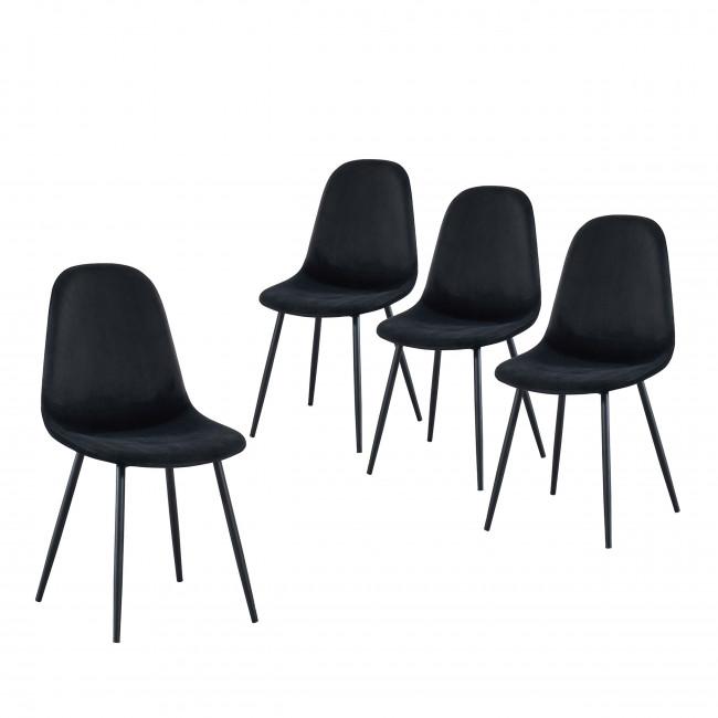 Heki - 4 chaises en velours