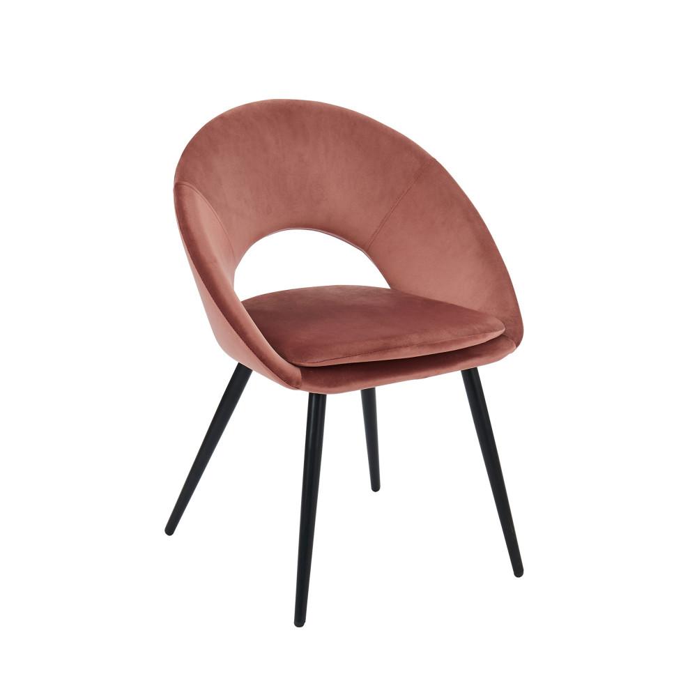 KABLAR - Fauteuil de table en velours