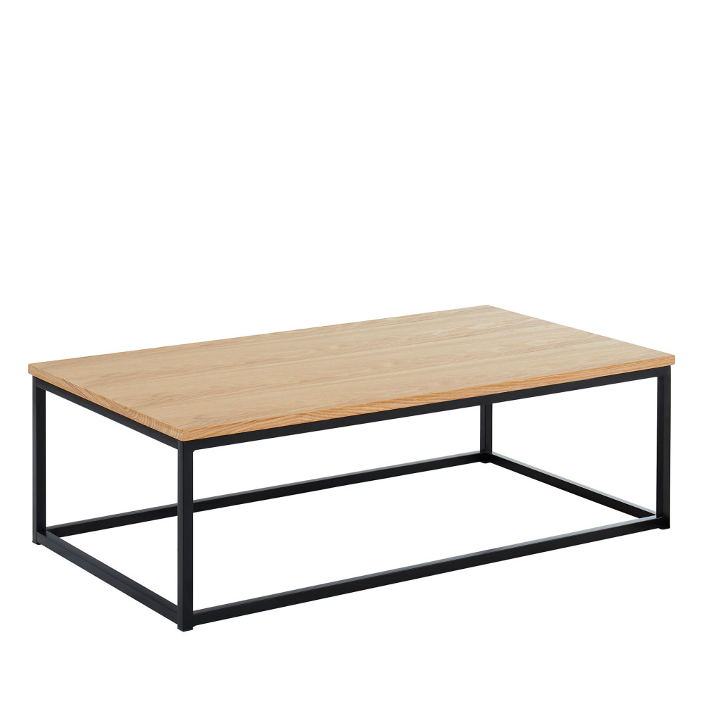 Table bois en basse métal en 110x60 cm IVICA et Yg7byvImf6