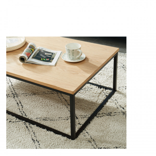 Ivica - Table basse en bois et en métal 110x60 cm