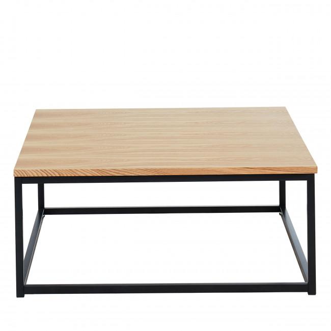 Ivica - Table basse en bois et en métal 80x80 cm