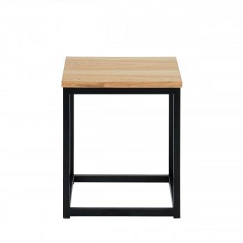 Ivica - Table d'appoint en bois et en métal