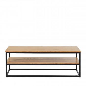 Ivica - Meuble TV industriel en bois et en métal