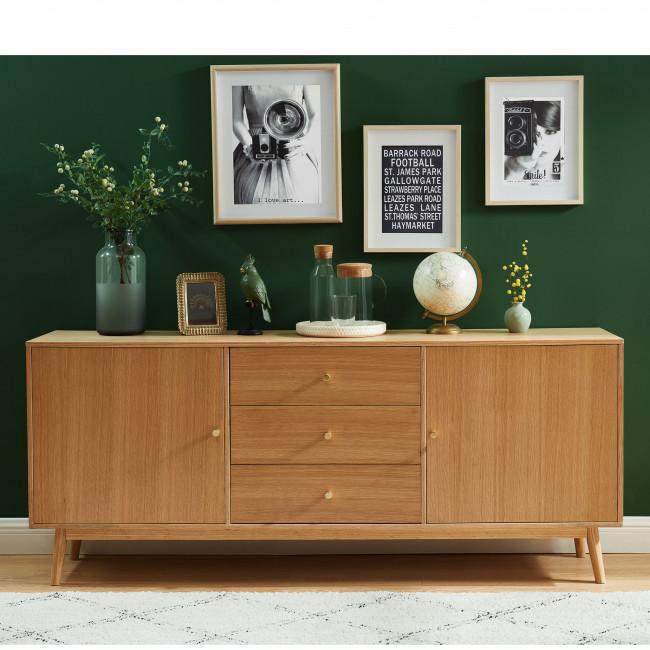 Grude - Buffet vintage 2 portes 3 tiroirs en bois