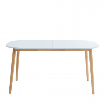 Gurra - Table à manger scandinave extensible 160-200 x 80 cm