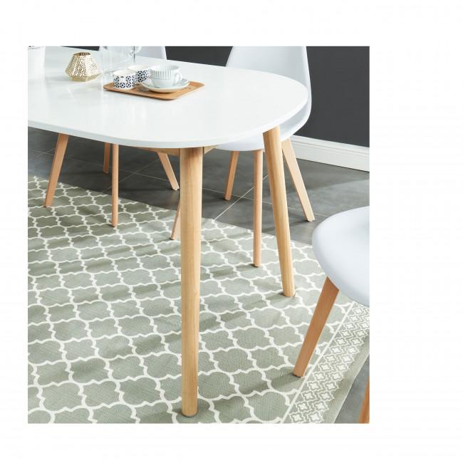 Gurra - Table à manger scandinave extensible 160-200 x 80 cm