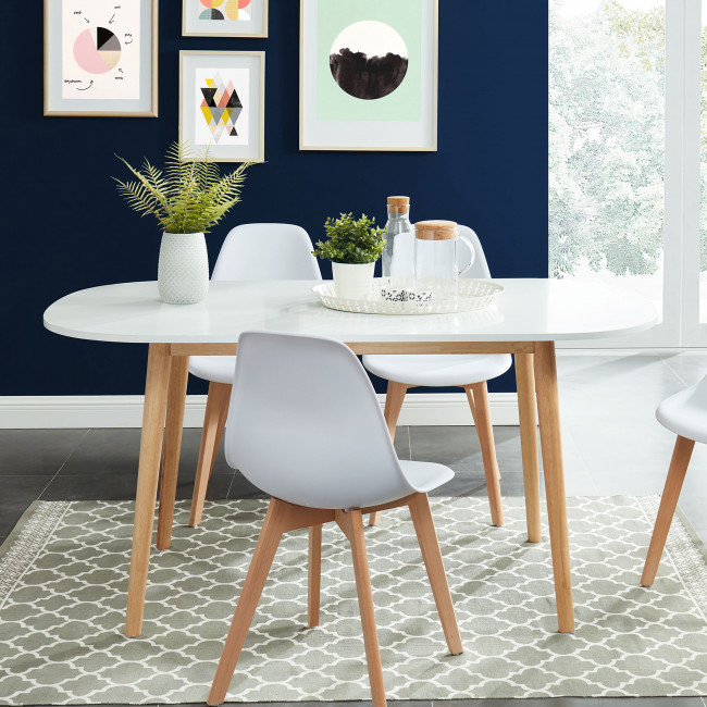 Gurra - Table à manger scandinave  160 x 80 cm