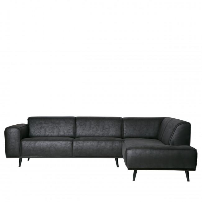 Statement - Canapé d'angle droit en Suédine