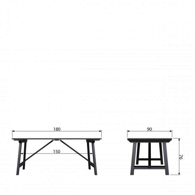 Derby - Table à manger 180 x 90 x 76 cm en pin massif