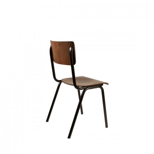4x chaise vintage métal bois Scuola