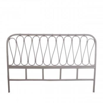 Tête de lit en rotin gris clair Atilan