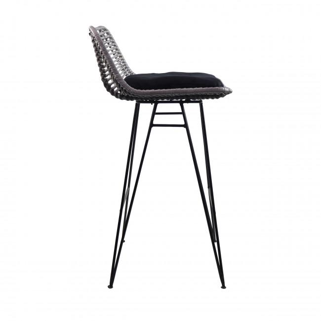 Chaise de bar design en rotin 69cm Capurgana
