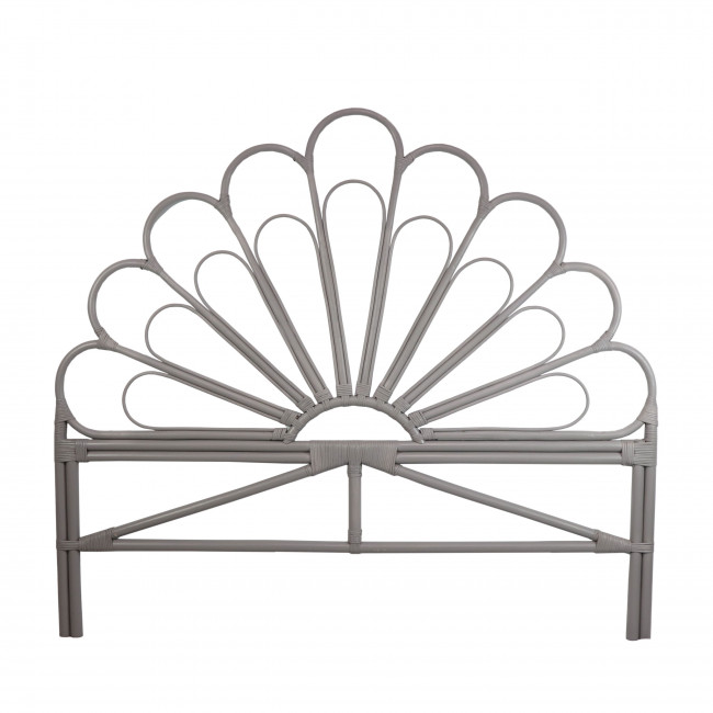 Tête de lit design en rotin gris clair Singaraja