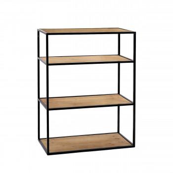 Eszential - Étagère en bois et métal 80x60cm