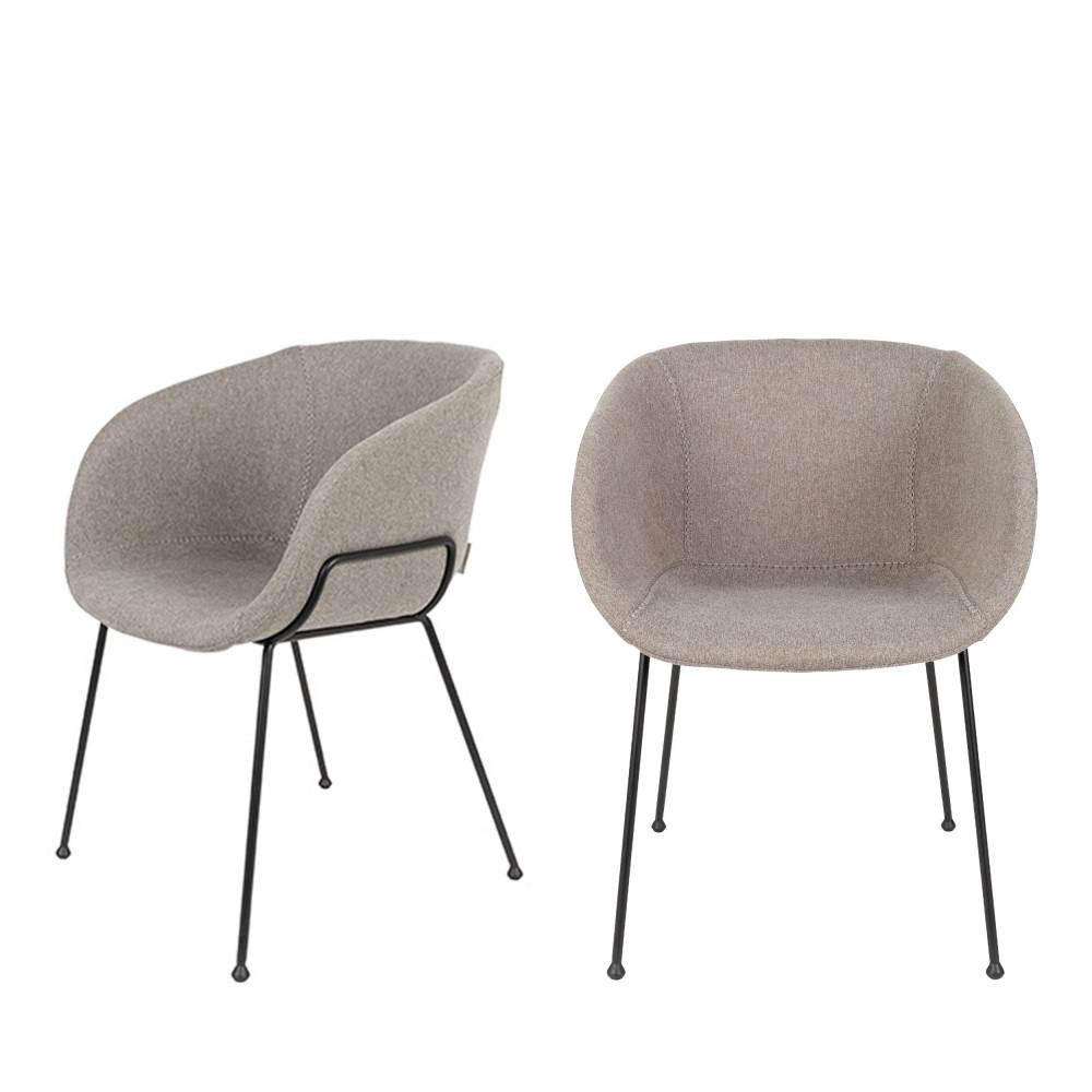 7 fauteuils de table en tissu Zuiver - FESTON
