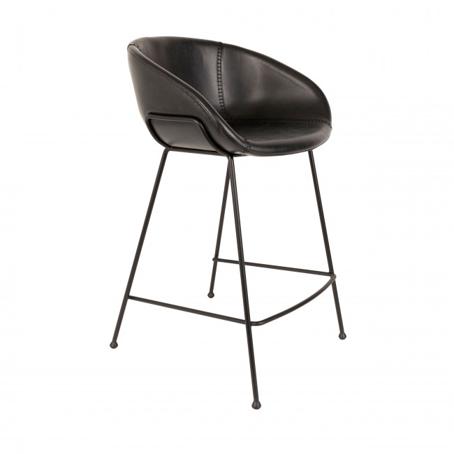 Feston - 2 tabourets de bar 65cm en similicuir