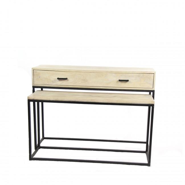 Pure - Console en bois et métal