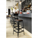 Chilly - 2 chaises de bar métal et similicuir 75cm