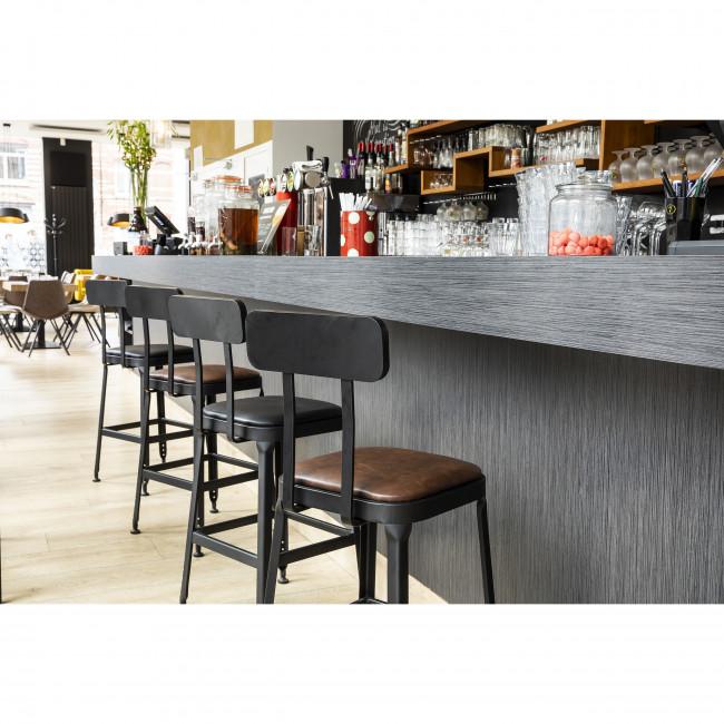 Chilly - 2 chaises de bar métal et similicuir 63cm