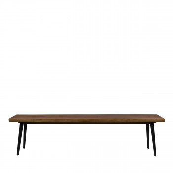 Banc design en bois de noyer 180cm Alagon Dutchbone