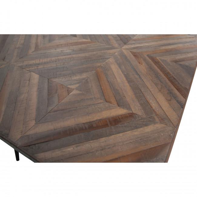 Rhombic - Table à manger en bois et métal 180x90cm