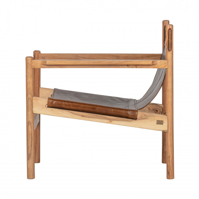 Chill - Fauteuil en cuir et bois