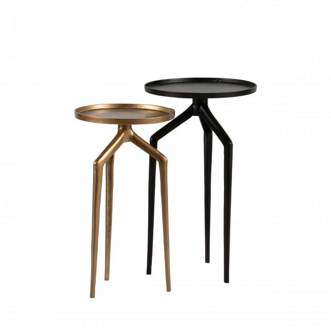 Mosquito - 2 tables d'appoint en métal