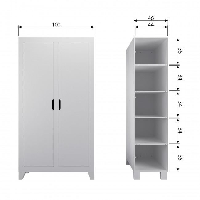 Elona - Armoire 2 portes en bois