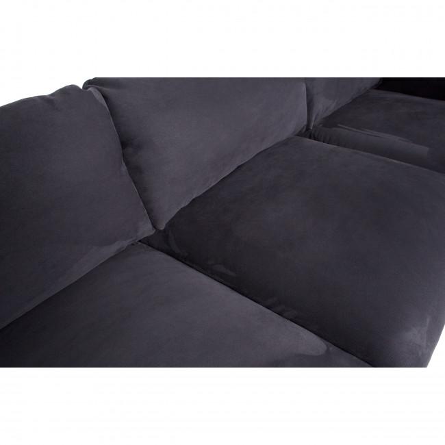 Rocky - Canapé d'angle gauche en suédine côtelée