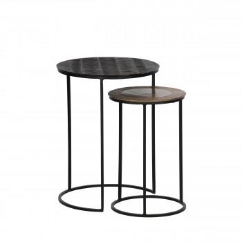 Tate - 2 tables d'appoint gigognes en métal
