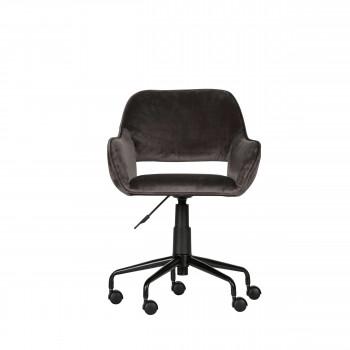 Jelle - Chaise de bureau en velours