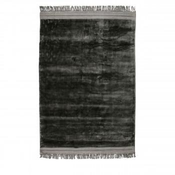 Ravel - Tapis en velours gris anthracite